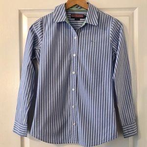 Vineyard Vines Blue Stripe Button Dress Shirt 2